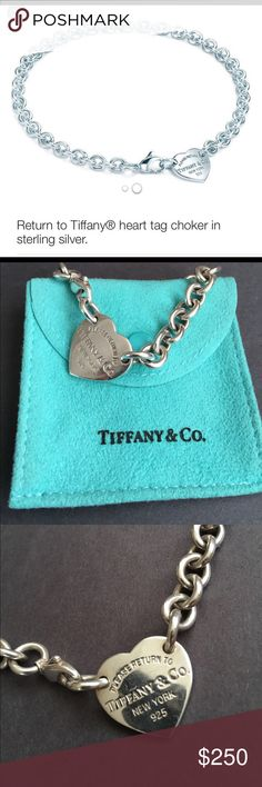 Return to Tiffany Heart Choker Sterling Silver Return to Tiffany Heart Choker. 18in long. Authentic Tiffany & Co. Jewelry Necklaces