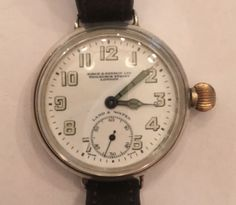 Dial signed Birch and Gaydon, Fenchurch St, London Land & Water Swiss Made movement Zenith