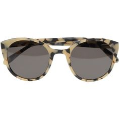 Alexander Wang Sunglasses ($230) ❤ liked on Polyvore featuring accessories, eyewear, sunglasses, glasses, alexander wang, sunnies, beige, two-tone sunglasses, alexander wang sunglasses and print sunglasses