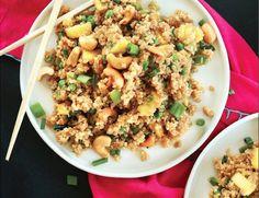Make This Quinoa Stir-Fry With Garlic and Pineapple - Food Republic Vegan Dinner Recipes, Vegan Dinners, Vegetarian Recipes, Cooking Recipes, Healthy Recipes, Healthy Food, Healthy Life, Healthy Eating, Quinoa Stir Fry