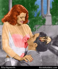 Rita vamps matador Tyrone Power in the 1941 classic 'Blood and Sand' 1940s Actresses, Tyrone Power, Rita Hayworth, Covergirl, Movies Online, Redheads, Snow White, Blood, Disney Characters
