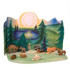 Ostheimer Forest Set with Diorama - would like to make a similar backdrop for Nature Table or play