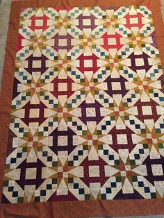 Churn Dash & Stars Quilt made by Sherry and Bonnie from Serendipity Quilt Shop, The Pattern by Mary Johnson of MaryQuilts Star Quilt Blocks, Star Quilts, Scrappy Quilts, Easy Quilts, Mini Quilts, Quilting Projects, Quilting Designs, Quilting Ideas, Quilting Tutorials