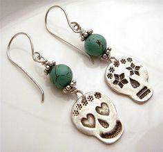 Loves me, Loves me not Day of the dead Earrings | Flickr - Photo Sharing!