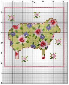 вышивка крестом овечки детская - Поиск в Google
