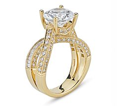 Go Gold with this Unique Diamond Engagement Ring!