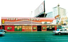 Foxy's Firehouse, Las Vegas Blvd, 1980s. Random dump one block north of Sahara. After ten years they built a new one based around a statue of a cow. Now it's rubble, and 49 cents can't buy anything anymore.