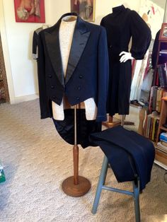 Antique 1930 Men's Formal Dress Tailcoat Tuxedo Jacket w/Pants by OldohioVintage on Etsy