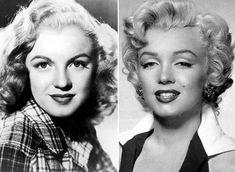 Мэрилин Монро. Снимки до и после хирургического вмешательства. | Фото: allday.com.