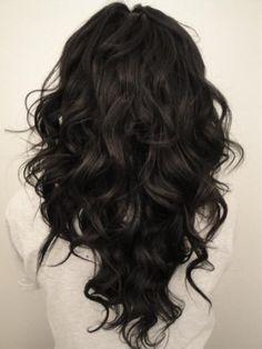 long hair cut in a V shape