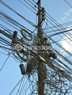 city power lines tangle - Google Search
