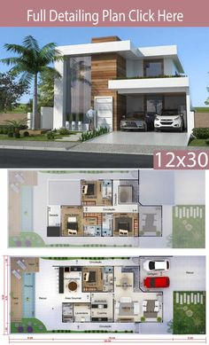 Home Design Meters 4 Bedrooms Home Ideas is part of House design - This project is undoubtedly one of the best ever made by our team With a perfect combination of design and functionality Sims 4 Modern House, Modern House Floor Plans, Modern House Facades, Home Design Floor Plans, Contemporary House Plans, House Plans Mansion, Sims House Plans, House Layout Plans, Duplex House Plans