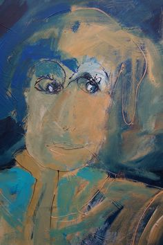 "acryl schildering 80x100, ""Tja..."" van Marian Filarski"