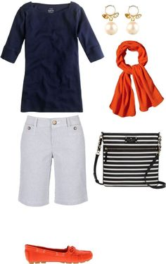 """""""Shorts Outfit for Women Over 60"""" by kimkperez on Polyvore"""