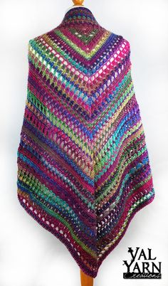Crochet shawl wrap boho bohemian in rainbow multicolor yarn Gifts For Wife, Gifts For Her, Crochet Shawls And Wraps, Scarf Styles, Mauve, Women's Accessories, Crochet Top, Pink, Bohemian