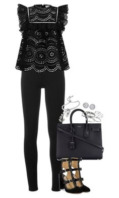 """Sem título #1317"" by manoella-f on Polyvore featuring moda, Givenchy, Zimmermann, Yves Saint Laurent, Jimmy Choo, Monica Vinader, John Hardy, Kendra Scott e Spectrum"