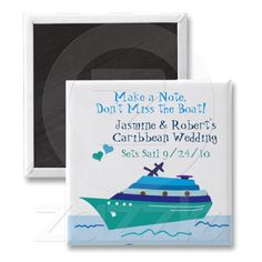 Cruise Save the Date Wedding Magnet. Perfect