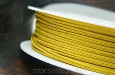 Sznurek Sutasz PEGA - żółty [1 metr] - Skarby Natury - rozwiń swoją pasję Metr, Coasters, Drink Coasters, Coaster Set