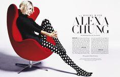 Alexa Chung | Photography by Mark Abrahams | For Harper's Bazaar Magazine US | March 2015