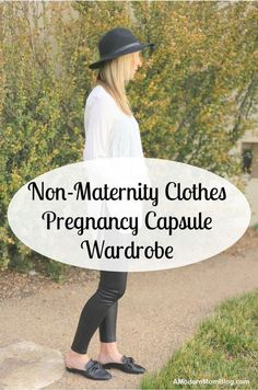 Maternity capsule wardrobe - the only maternity clothes pregnant women need for first trimester, second trimester, third trimester & maternity pictures. These cute maternity jeans, belly bands, pregnancy dresses and nursing tops are great