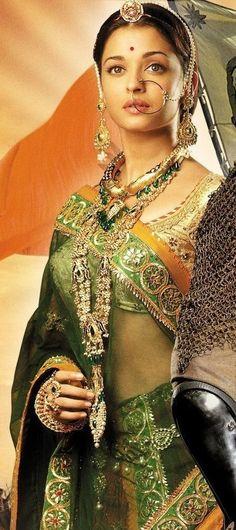 Księżniczka i cesarz / Jodhaa Akbar Bollywood Stars, Bollywood Fashion, Bollywood Actress, Bollywood Bridal, Bollywood Jewelry, Aishwarya Rai Jodha Akbar, Jodhaa Akbar, Sari, India Fashion