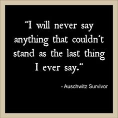 Stand for what you say! #quotes