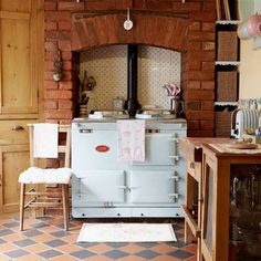 Create a rustic feel with a large range cooker