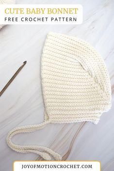 Crochet Cute Baby Bonnet - FREE Crochet Pattern • Joy of Motion