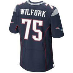 Official New England Patriots ProShop - Nike Elite Vince Wilfork #75 Jersey-Navy