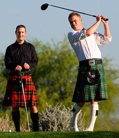 """Jugadores escoceses. Escocia es la cuna del golf. se dice """" que en la practica de este deporte algunas veces hace sol"""""""