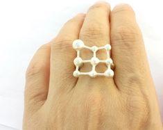 molecule sterling silver ring #jewelry #molecule #sterlingsilverring #handmadesilver #moleculering #statementring #luxuryjewelry