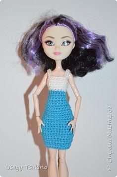 Кукольная жизнь Мастер-класс Вязание крючком МК Двухцветное платье для MH и EAH  Пряжа фото 1