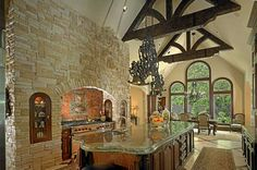 Italian Renaissance kitchen designed by Tracy Rasor, Dallas Design Group Interiors, and built by Sharif and Munir Custom Homes which won the ASID Legacy 2009 Award.