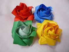 Origami Rose 8 Petals