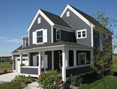 Royal Ironstone Dark Grey Siding And Dark Grey Shakes Decorative Gable Accent