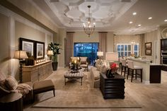 lennar homes living rooms | Lennar Homes Bougainvillea Model in Runaway Bay at Fiddler's Creek ...
