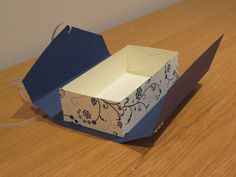 CraftyCarolineCreates: Clutch Bag Gift Box Tutorial, Using Flowering Flourishes by Stampin' Up