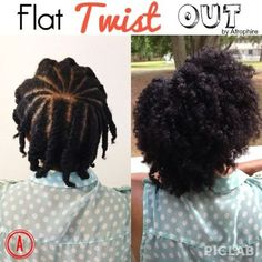 Flat Twist Out | 20 Effortless Styles For Growing Out Your Natural Hair #naturalhair: