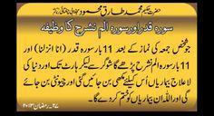 Read 11 times after jumma prayer