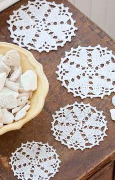 Free Crochet Pattern Hearts Desire Doily From RedHeart.com