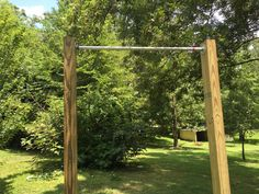 A pull up bar is an essential piece of equipment. We've got a detailed tutorial on how to make a DIY pull up bar to add to your backyard or garage gym.