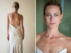 Stunning, sexy seductive bride wearing Narciso Rodriguez.