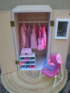 Barbie Doll House PINK WARDROBE VIGNETTE Room by DesignMeByMahlah, $40.00