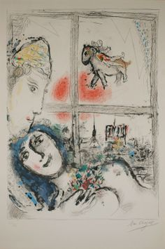 Marc Chagall Round Prints | Marc Chagall | Paris from my window :: Odon Wagner Gallery, Toronto ..