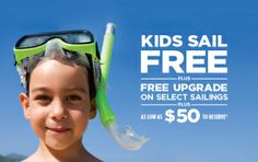 Kids Sail Free: Limited Availability Upgrade Offer: Book a Balcony stateroom for the price of an Ocean View stateroom onboard a variety of ships. And book an Ocean View stateroom for the price of an Interior stateroom onboard certain ships. Reduced Deposits: Deposits starting as low as $50 per guest. For Details Contact   taylormadetravel142@gmail.com  call 828-475-6227