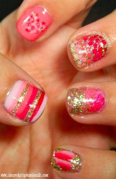 Valentine's Skittles Nails