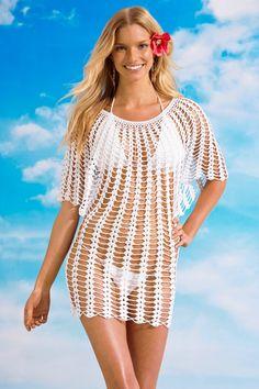 Irish crochet &: Beach tunics without patterns. For inspiration- Irish crochet &: Пляжные туники без схем. Для вдлхн… Irish crochet &: Beach tunics without patterns. Crochet Beach Dress, Bikinis Crochet, Crochet Tunic, Irish Crochet, Crochet Clothes, Knit Crochet, Crochet Summer, Crochet Pattern, Free Pattern
