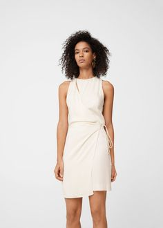 Bow wrap dress - Women | MANGO USA