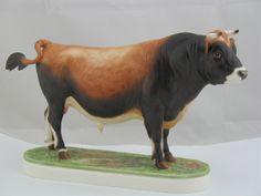 "Jersey Bull ""Leebarn Carlisle II"" Royal Worcester by Doris Lindner"
