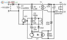 Типовая схема китайского сетевого зарядного устройства для сотового телефона Power Supply Circuit, Electronic Schematics, Growing Up, Plugs, Student, Technology, Reading, Circuit, Tech